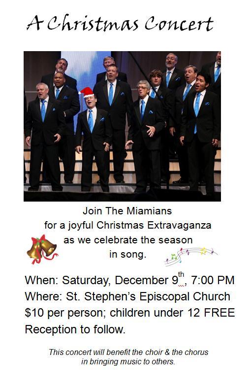 Christmas Barbershop Concert @ St. Stephen's Episcopal Church