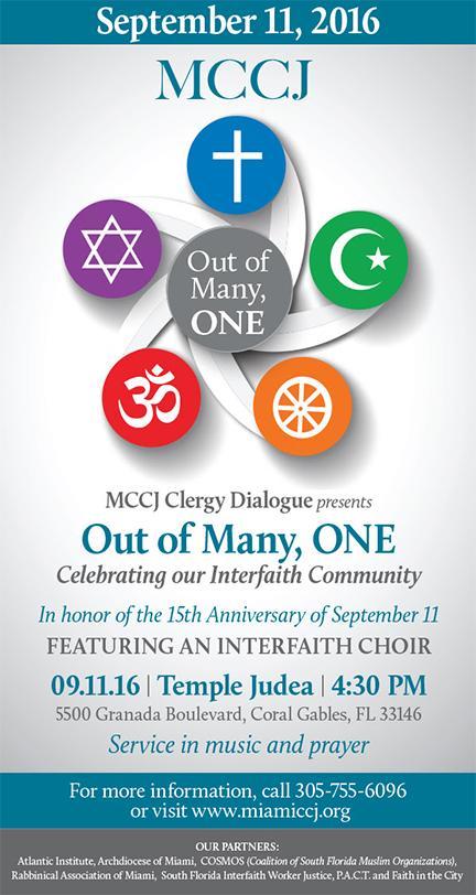 Interfaith Worship Service @ Temple Judea   Coral Gables   Florida   United States