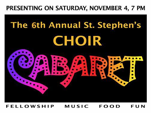 Choir Cabaret @ St. Stephen's Episcopal Church Great Hall | Miami | Florida | United States