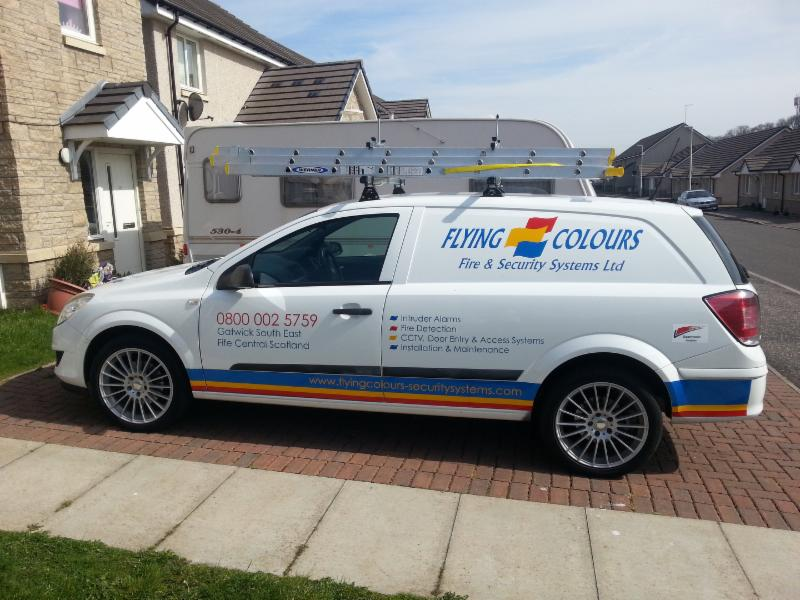 Flying Colours Fire & Security Ltd Van