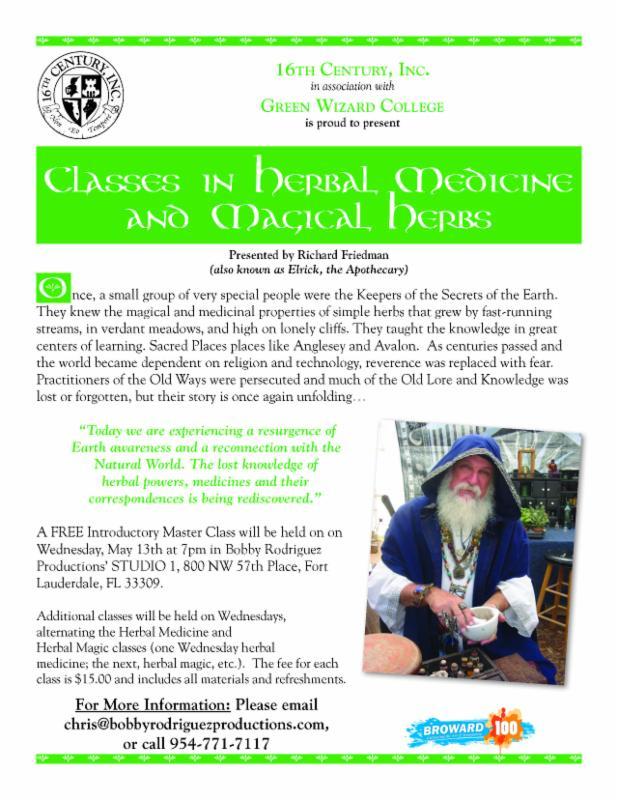 TOMORROW: Herbal Medicines and Magickal Herbs