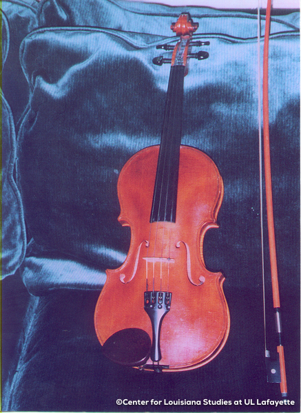 Fiddle-Mailhes, Frank, first fiddle made by Lionel LeLeux,