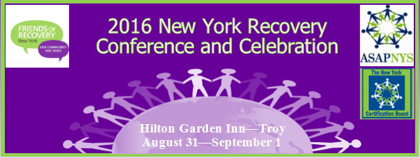 2016 New York Recovery Conference and Celebration Banner