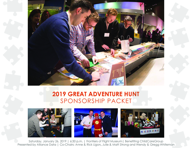 2019 Great Adventure Hunt Sponsorship Packet