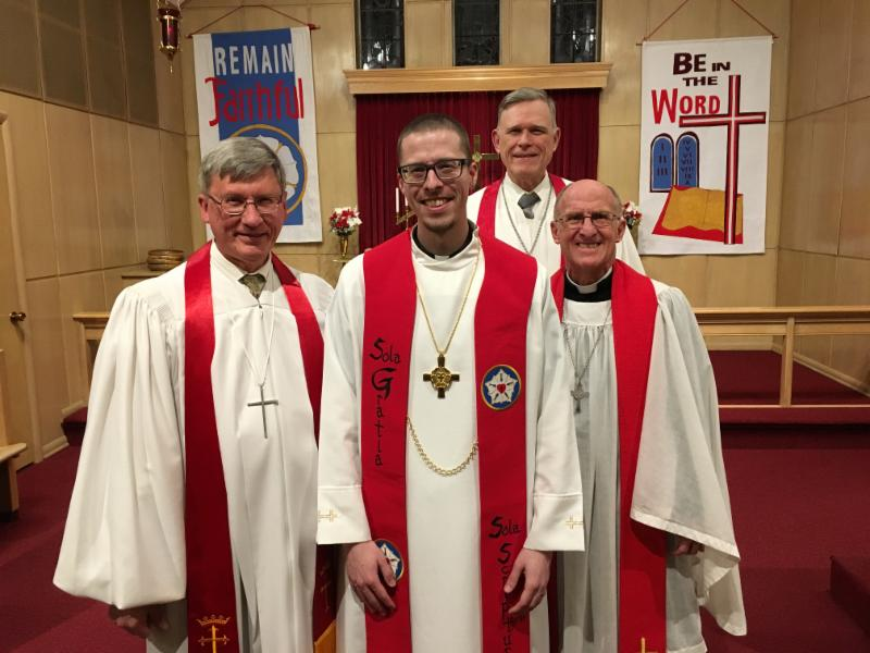 pastors gathered for Locklair installation