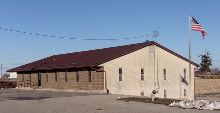 exterior of new church building in Waukon