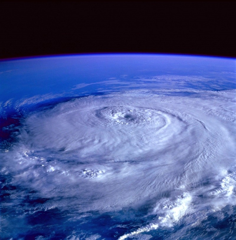 satelite image of a hurricane