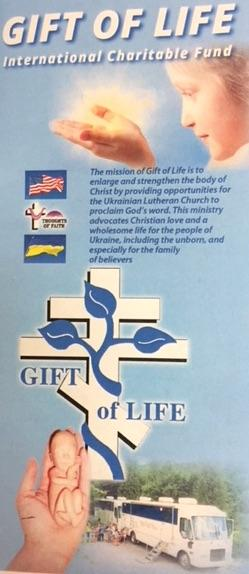 brochure cover for gift of life