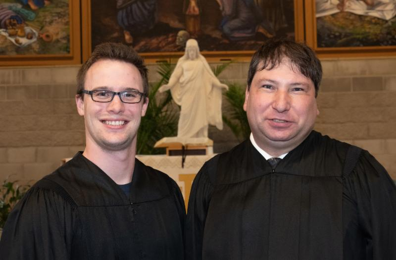 two seminary graduates