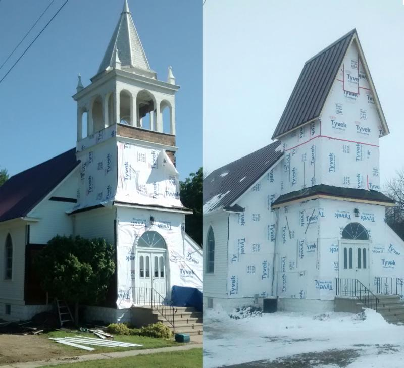 before and after pictures of Manchester Lutheran Church