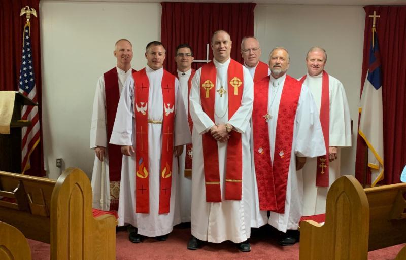 pastors at Peter Heyn installation