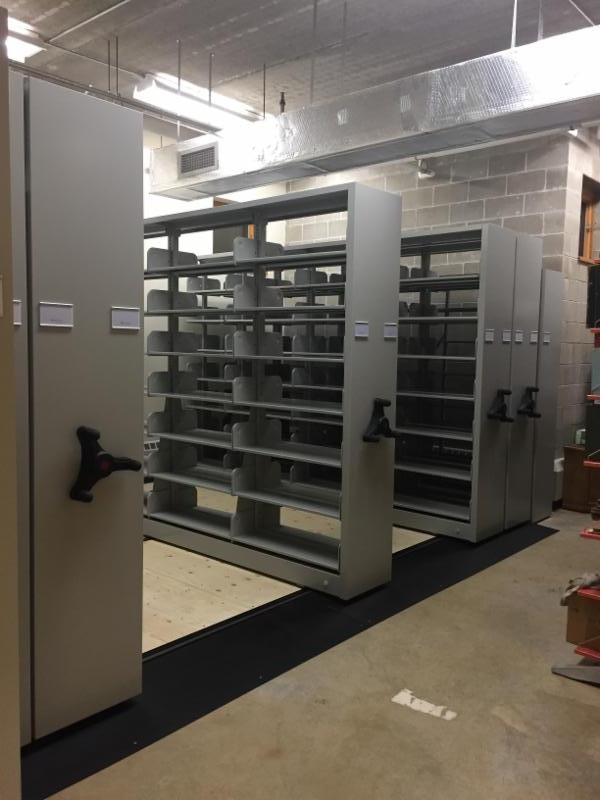 new movable shelving