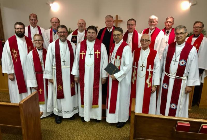 pastors at the ordination of Christian Walz