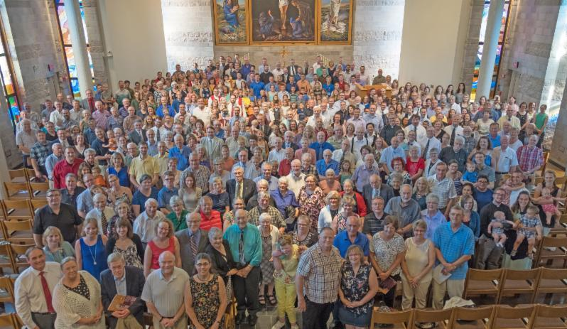 group in Trinity Chapel on Synod Sunday