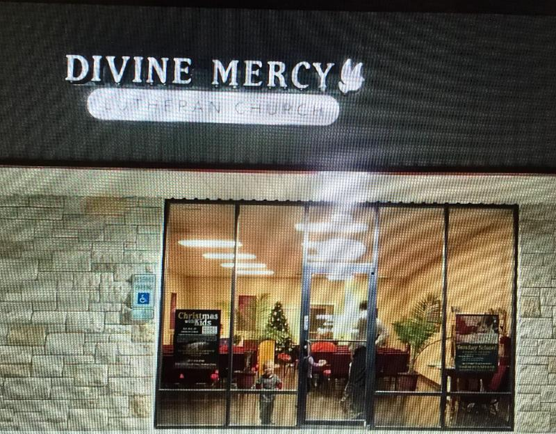 entrance of Divine Mercy church