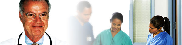 An image showing a doctor and people in surgical scrubs