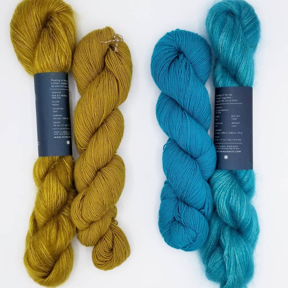 AQUA BLUE Sun and Wind Farm Free Shipping to U.S. Hand Dyed Wool