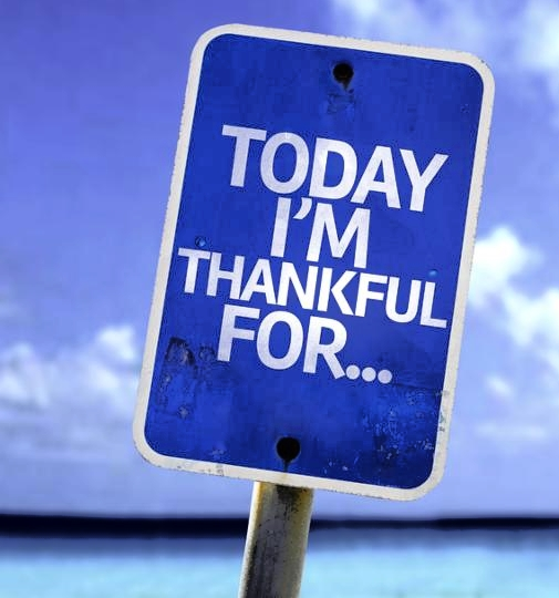 Today I m Thankful For.. sign with a beach on background