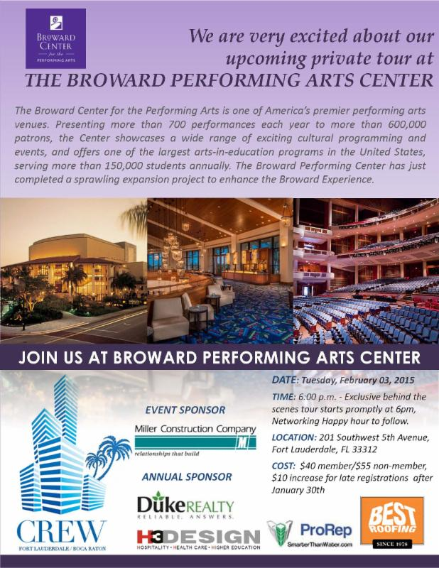 Art Calendar Broward : Register for broward performing arts center tour
