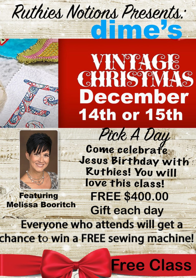 Vintage Christmas At Ruthies Notions Dec 14