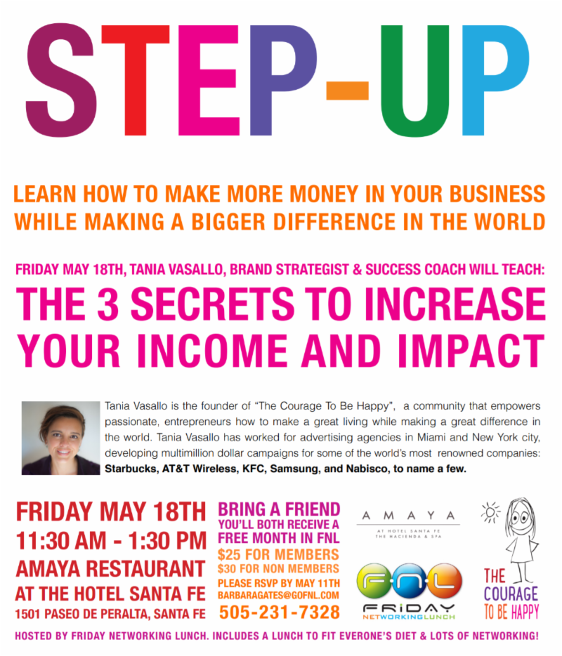 Step-Up! Friday Networking Lunch Spring Luncheon