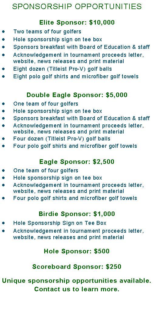 B3 sponsorships