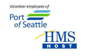 Volunteer employees of Port of Seattle and HMS Host