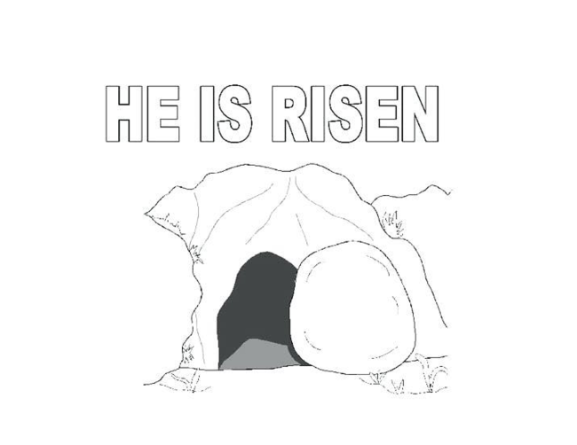 He is Risen coloring page full.png