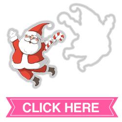 Santa Spinner Die (4697)
