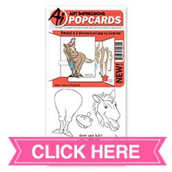 Horse PopCard