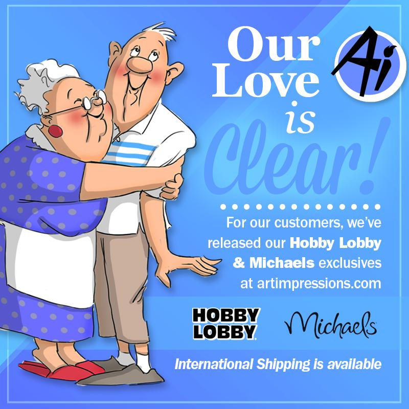 Our Love is Clear_ Hobby Lobby _ Michaels Exclusives at artimpressions.com_