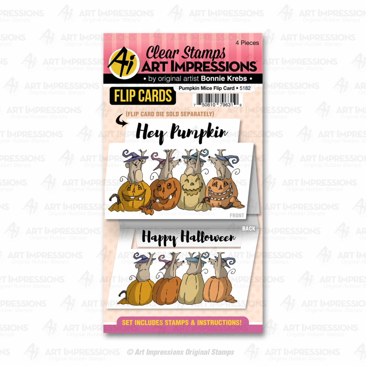Pumpkin Mice Flip Card