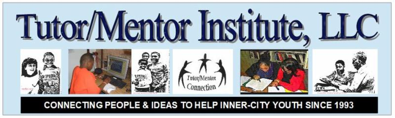 Tutor Mentor Institute LLC newsletter heading with blue background