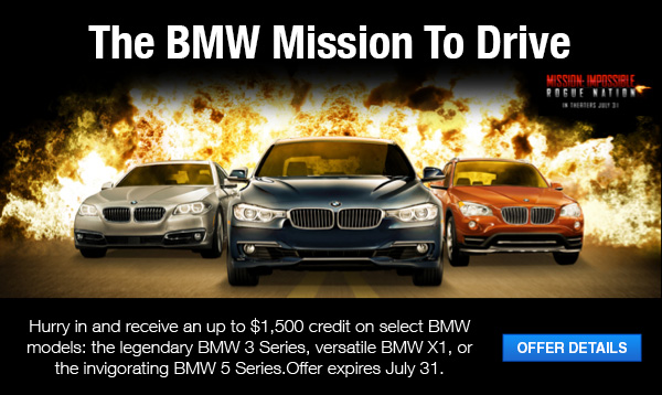 Lease A New Bmw For Zero Down During The Mission To Drive
