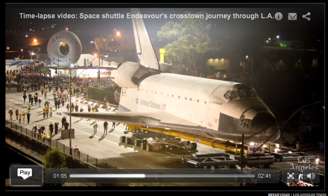 Link to video of Space Shuttle in Los Angeles, CA
