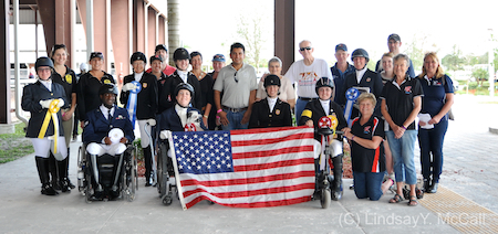 U.S. Riders and Supporters. Photo (C) Lindsay Y. McCall