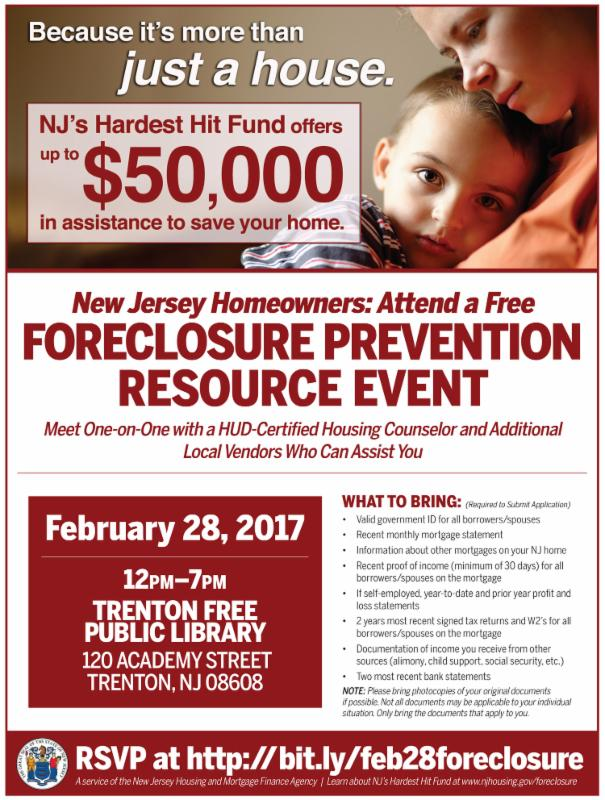 NJHHF Feb 28 Event Flyer