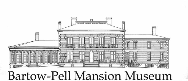 Bartow-Pell Mansion Logo with image of the mansion