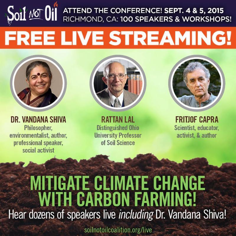 78f2878dd01b But first we ll be at the Soil not Oil Conference in Richmond