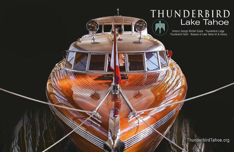 With Record Water Levels Refurbished Engines And A New Bottom Thunderbird Yacht Is Making Long Awaited Debut At The Lake Tahoe Concourse D Elegance