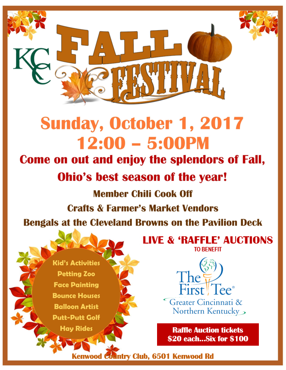 The First Tee of Greater Cincinnati/Northern KY Fall Festival
