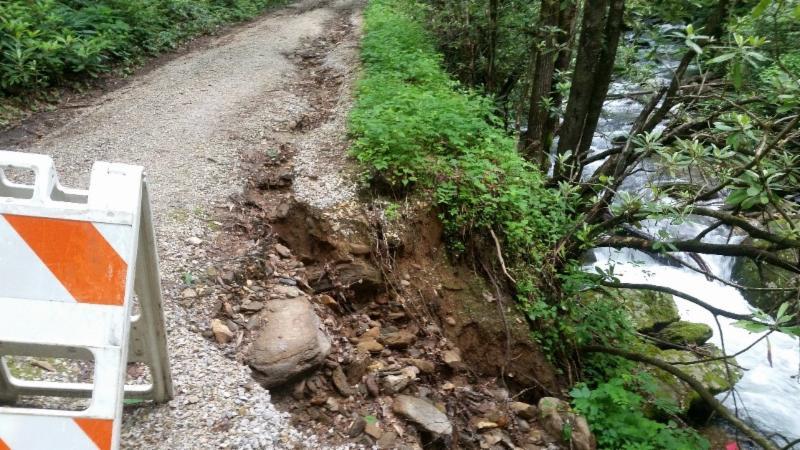 Road damage due to May rains 2018