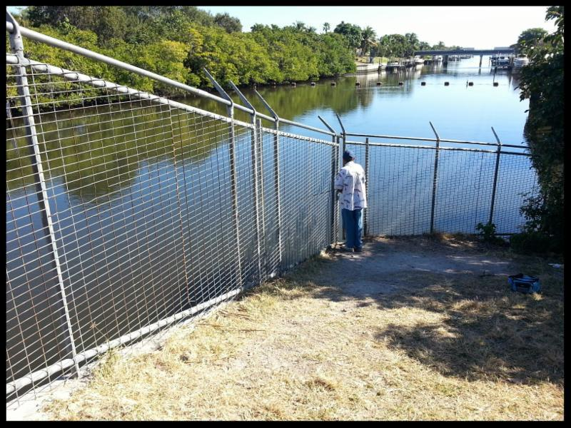 West Palm Beach Canal Fishing