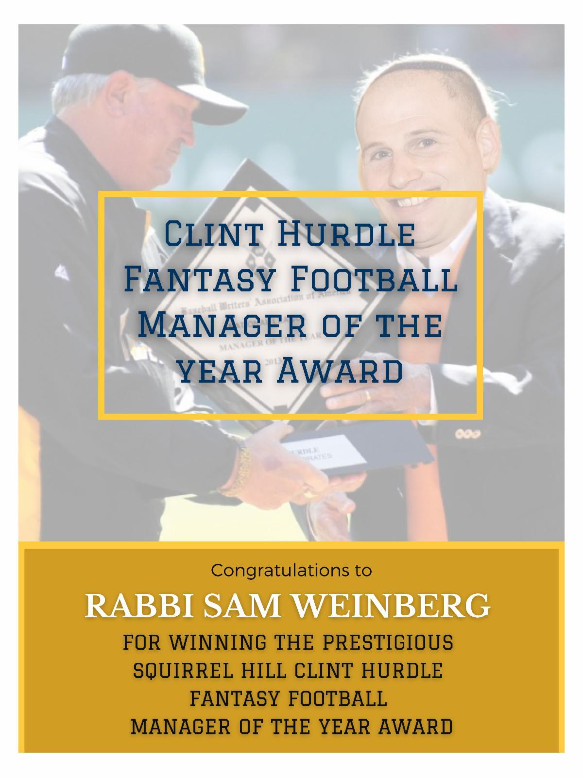 Clint Hurdle Fantasy Football Manager of the year Award.jpg