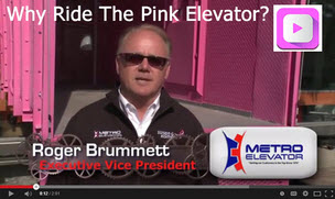 Pink Construction Elevator