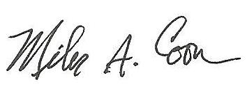 Miles signature