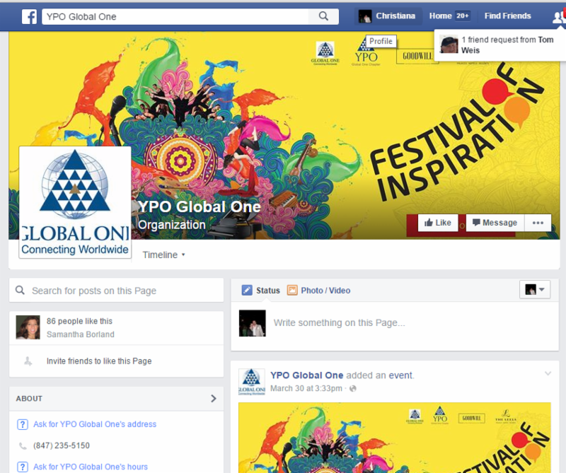 YPO Global One Facebook page