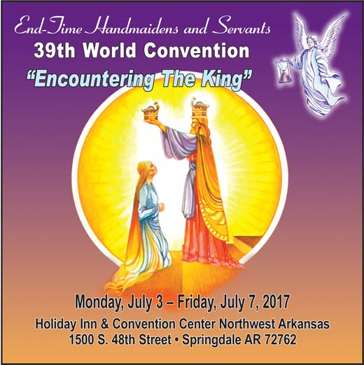 39th World Convention Theme--Enountering the King