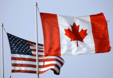 Canadian & US flags