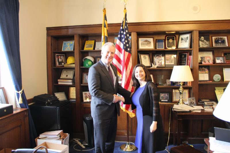 Our Intern with Congressman Van Hollen